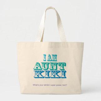 I am Aunt Kiki Jumbo Tote Bag