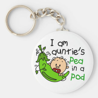 I Am Auntie's Pea In A Pod Key Chain