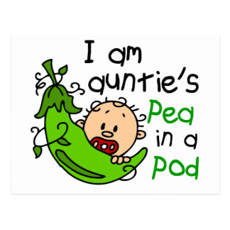 I Am Auntie's Pea In A Pod Postcard