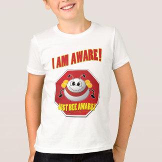 """""""I AM AWARE"""" Kids Ringer Tee"""