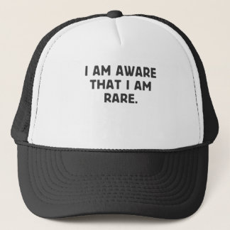 I am aware, that I am rare. Trucker Hat