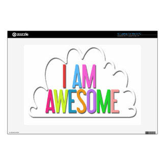 """""""I AM AWESOME"""" Custom Graphic Skin Skins For Laptops"""