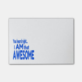 I am Awesome in Blue Post-it® Notes