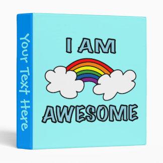 """I am Awesome"" Rainbow Binder"