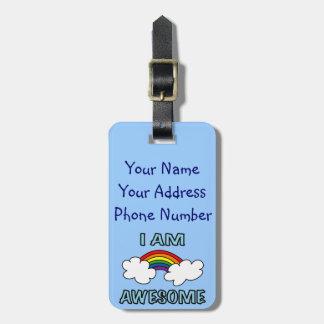 I Am Awesome Rainbow Luggage Tag