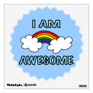 """I am Awesome"" Rainbow Wall Decal"