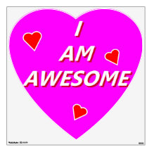 I Am Awesome Room Stickers