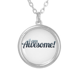 I am AWESOME Silver Plated Necklace