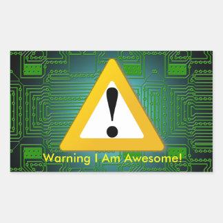 I Am Awesome Sticker! Rectangular Sticker
