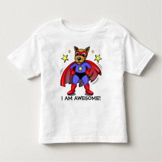 I am awesome super dog children's cartoon shirts
