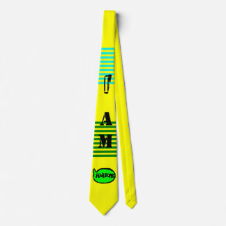 I Am Awesome TIE (Caution Tape Yellow)