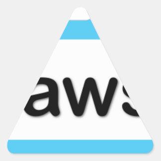 I am Awesome Triangle Sticker