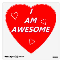 I Am Awesome wall decal