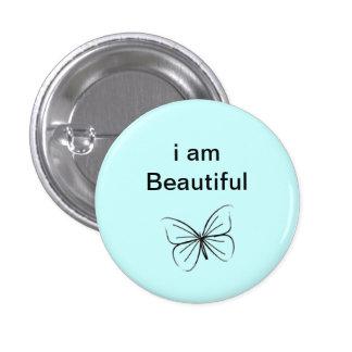 I am beautiful 1 inch round button