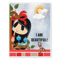 I am beautiful#2 Temporary Tattoos