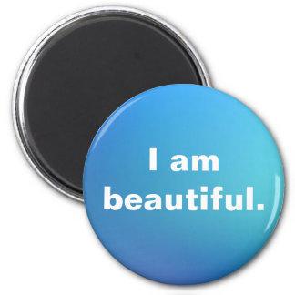 I am Beautiful Affirmation Inspiration Watercolor Magnet