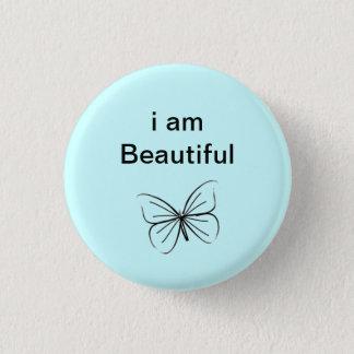 I am beautiful pinback button