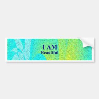 I AM Beautiful.png Car Bumper Sticker