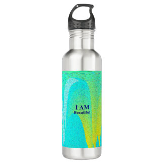I AM Beautiful Water Bottle 24 oz Stainless Steel