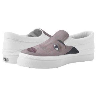 I am Beautiful Zipz Slip Tennis Shoes, US Women Printed Shoes