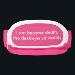 "I am become death the destroyer of worlds visor<br><div class=""desc"">I am become death the destroyer of worlds</div>"