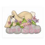 I am Big Sister Bunny T-shirt Gift Design Postcard