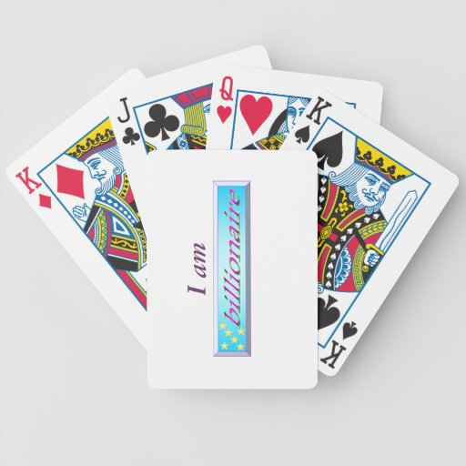 I am billionaire playing cards