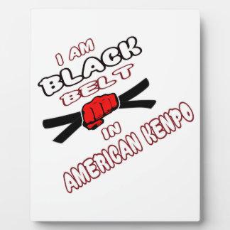 I am Black belt in American Kenpo. Photo Plaques