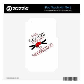 I am Black belt in Taekwondo iPod Touch 4G Decal