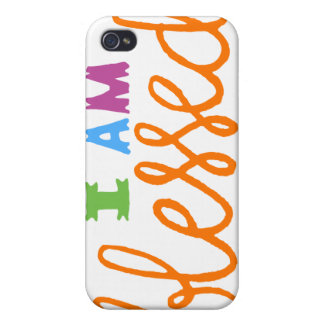 I Am Blessed (Original Typography) Cases For iPhone 4