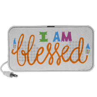 I Am Blessed Original Typography iPod Speaker