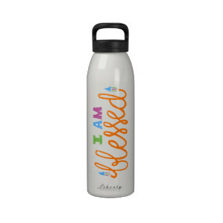 I Am Blessed (Original Typography) Reusable Water Bottles