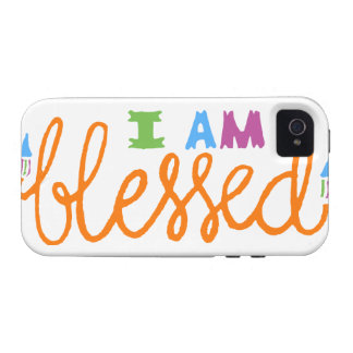I am blessed vibe iPhone 4 case
