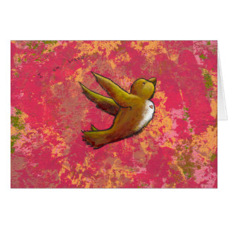 I am Brave - beautiful cute bird w/ heart CUSTOM Cards