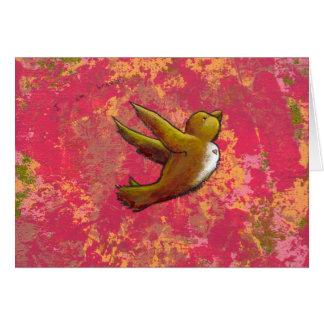 I am Brave - beautiful cute fun bird w/ heart Greeting Card