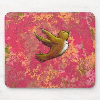 I am Brave - beautiful cute fun bird w/ heart Mouse Pad