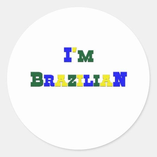 I am Brazilian Classic Round Sticker