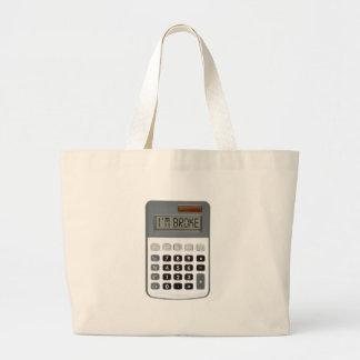 I am broke jumbo tote bag