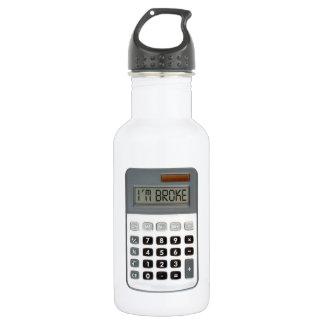 I am broke stainless steel water bottle