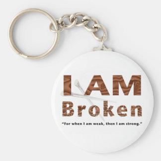I Am Broken Basic Round Button Keychain