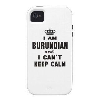 I am Burundian and i can't keep calm Vibe iPhone 4 Cover