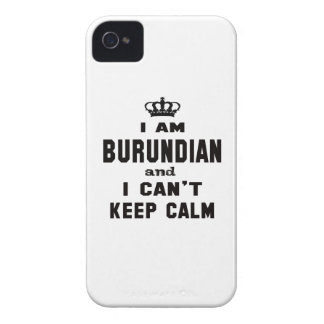 I am Burundian and i can't keep calm iPhone 4 Covers