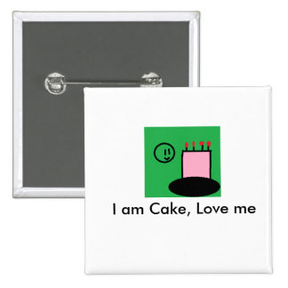 I am Cake Button