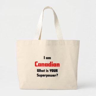 I am Canadian Jumbo Tote Bag