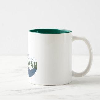 I am CASCADIAN scenery mug. Two-Tone Coffee Mug