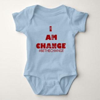 I AM CHANGE INFANT blu Baby Bodysuit