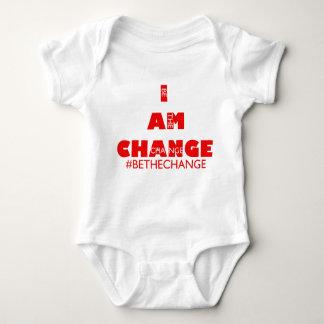 I AM CHANGE INFANT gry Baby Bodysuit
