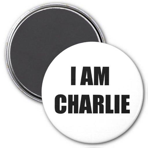 i am charlie 3 inch round magnet zazzle. Black Bedroom Furniture Sets. Home Design Ideas