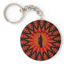 I am Cherokee Basic Round Button Keychain