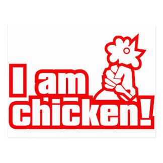 I am chicken! postcard